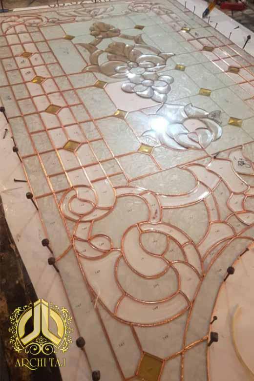ساخت شیشه لوکس تیفانی درب