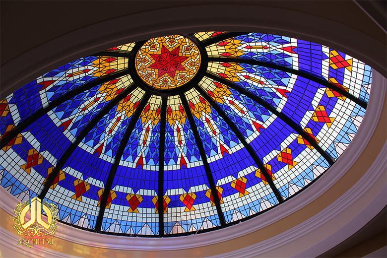 نورگیر استین گلس مسجد جابری