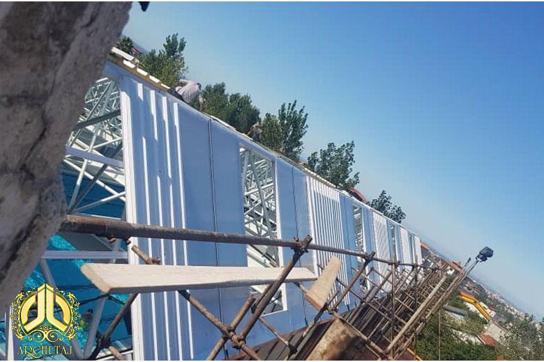 پروژه سقف شیشه ای استخر دانشگاه شمال